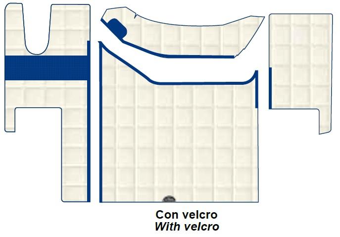 Tappeti per pavimento e camion Renault GAMA T 12 colori