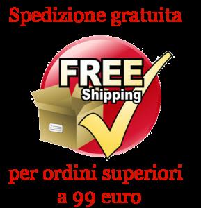 Spedizione gratuita per ordini superiori a 99 euro