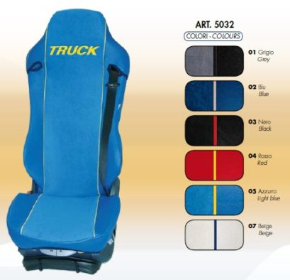 coprisedile su misura per camion universal seat cover covers truck daf iiveco man mercedes renault scania volvo nero blu grigio rosso blu chiaro panna by ernest XTYPE EXTREME